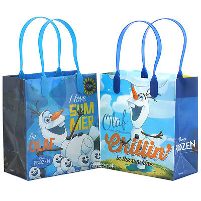 Disney Frozen Olaf Authentic Licensed Reusable Small Party Favor Goodie 12 Bags  - Frozen Goodie Bags