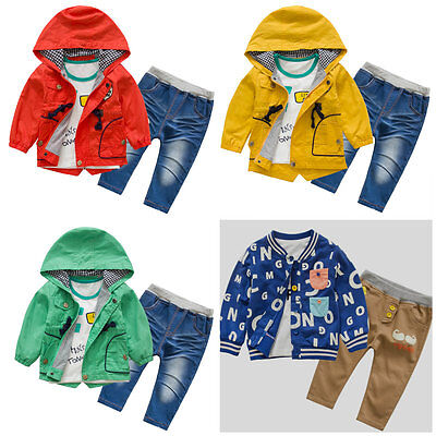 nch Coat Wind Coat Casual Jacket Set Hoodie Size 1-5 Years (Toddler Boy Trenchcoat)