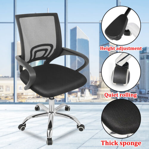 mesh office chair swivel mid back computer