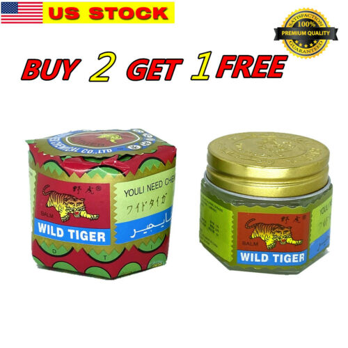 BUY 2 GET 1 FREE - 18g Tiger Balm Red Arthritis Pain Joints Headache Relief Ache