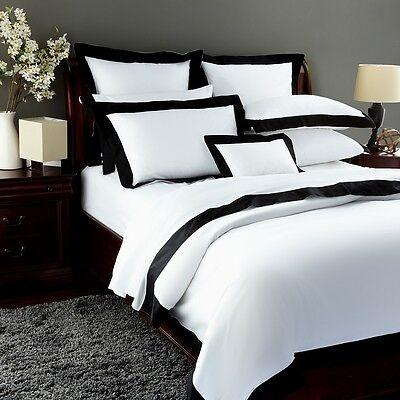 Pratesi Griffe Hotel Egyptian Cotton FULL/QUEEN Duvet Cover BLACK/WHITE D327  ()