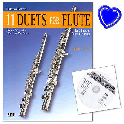 11 Duets for Flute - Notenbuch mit CD - AMA Verlag - 610290 - 9783899221718