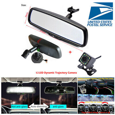 """4.3"""" Auto Dimming TFT LCD Rear View Mirror Monitor w/ 12 LED Dynamic Camera USA segunda mano  Embacar hacia Argentina"""