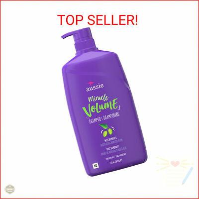 Aussie Miracle Volume Shampoo, Paraben Free, 26.2 fl oz