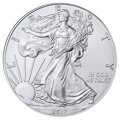2017 1 Troy oz. American Silver Eagle BU Coin SKU44360
