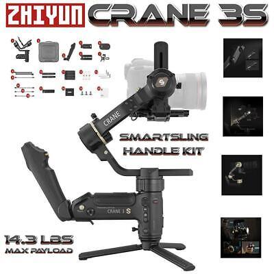 Zhiyun Crane 3S 3 Axis Handheld Gimbal Stabilizer For DSLR+ SmartSling Handle