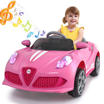 6V Kids Ride on Cars Remote Control Electric Car toys Girls Gift Pink Christmas