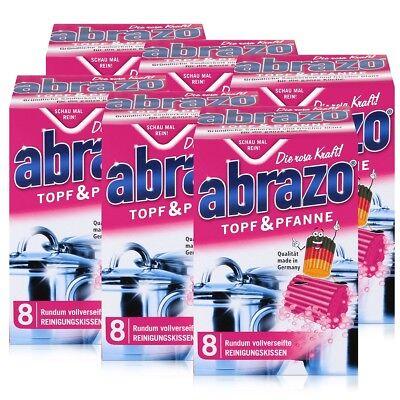 abrazo Topf & Pfanne Reinigungskissen - Die rosa Kraft (6er Pack) (Reinigung Topf)