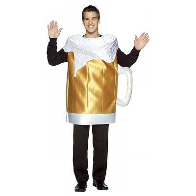 Beer Mug Costume Adult Funny Oktoberfest Halloween Fancy Dress - Beer Mug Costumes