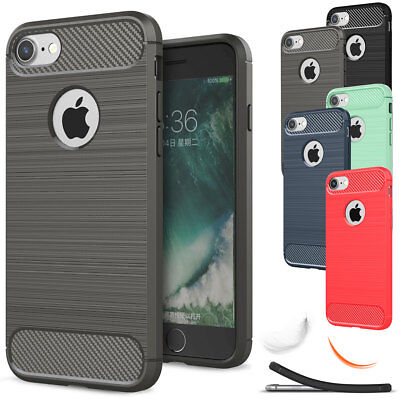For iPhone 5 5s SE Slim Shockproof Rubber Armor Silicone Rug