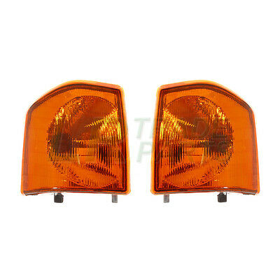 LAND ROVER DISCOVERY 1 NEW FRONT AMBER INDICATOR LAMPS (PAIR) LIGHTS (1994-1998)