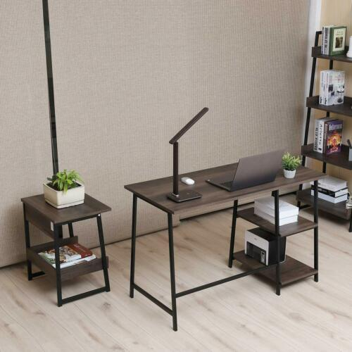 2-Tier End Table, Living Room Night Stand Wood Side Table with Storage 4