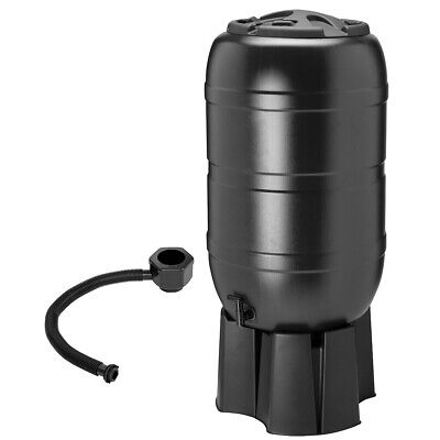 210L Garden Round Plastic Water Butt Set Including Tap With Stand and Filler Kit