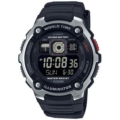 Casio Digital Men's Watch, 200 Meter WR, Chronograph, 5 Alarms,  AE2000W-1BV