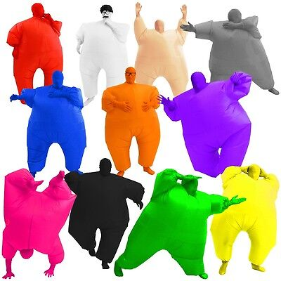 Chub Suit Inflatable Adult Costume Funny Blow Up Fat Halloween Fancy - Fat Suit Halloween Costumes