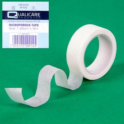 GENUINE QUALICARE MEDICAL MICROPOROUS TAPE 12.5mm x 5m Low Allergy First Aid