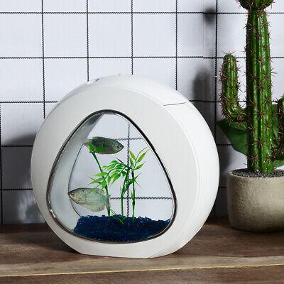 Petsjoy 1 Gal Fish Aquarium Betta Fish Tank Acrylic Fish Bowl w/Filter Air Pump