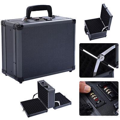 Costway Double Locking Handgun Box Gun Case Pistol Hard Carr