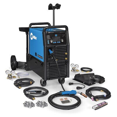 Miller Multimatic 235 Multiprocess Welder Wdual Cyl Cart And Tig Kit 951847