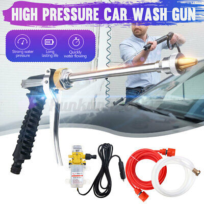12v Dc 160psi High Pressure Car Washer Cleaner Water Wash Pump Sprayer Kit Tools