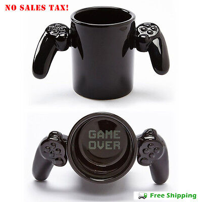 Game Over Ceramic Coffee Mug Tea Cup PlayStation Controller Free Shipping New