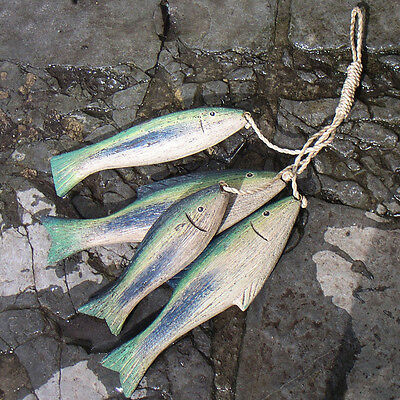Blue Green Bunch of Fish | Seaside Decoration by Shoeless Joe
