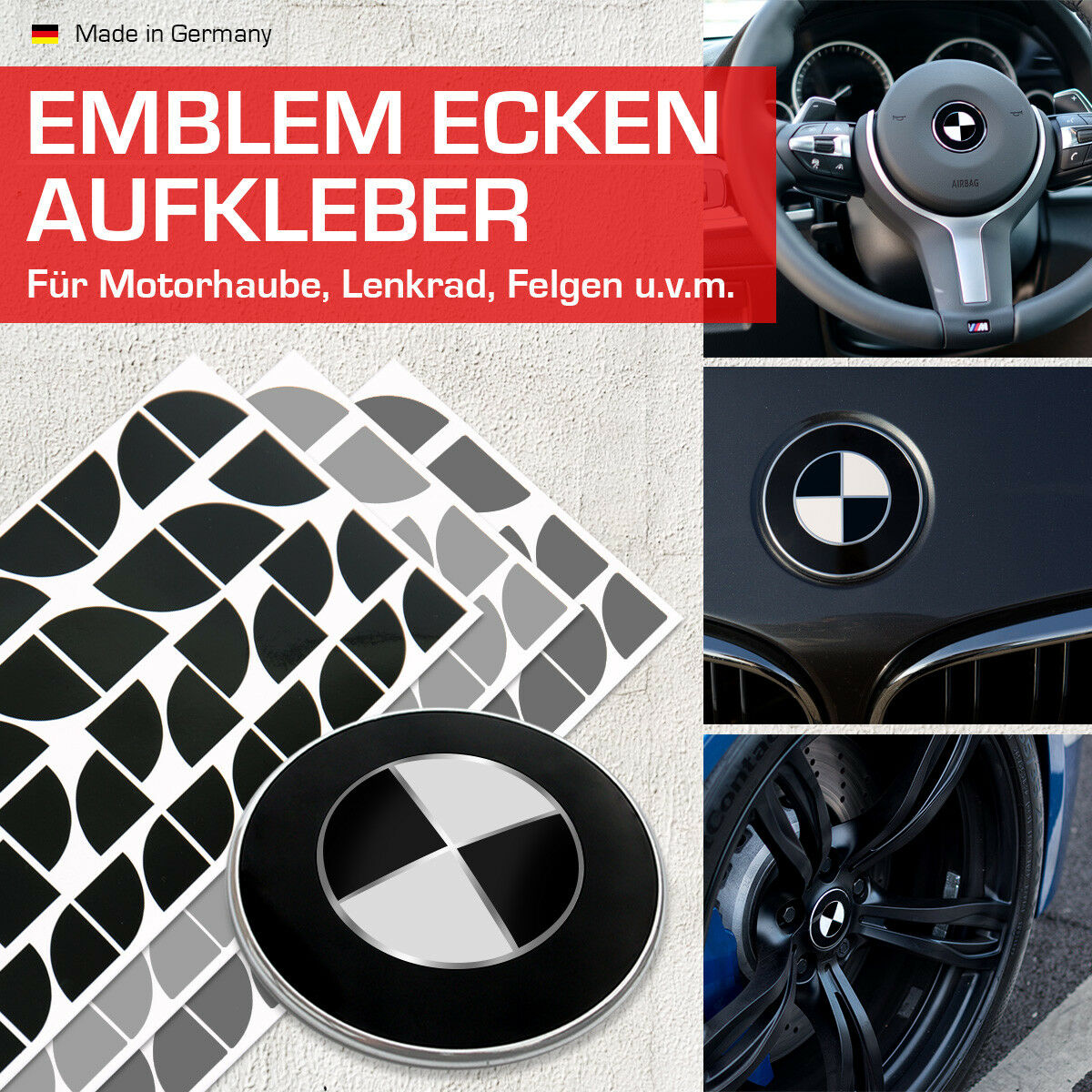 f11 5er Emblème Autocollant Emblem Autocollants Coins Pour BMW f10 5er f12 6er