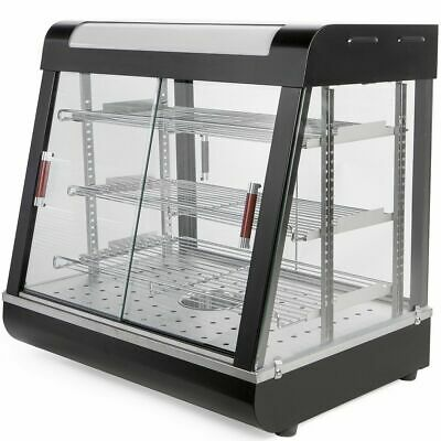 Commercial 3 Tier Food Pizza Warmer Cabinet Countertop Heated Display Case