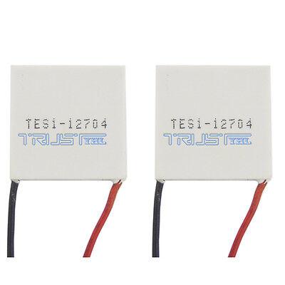 2pcs Tes1-12704 Peltier Module 30mm Tec Thermoelectric Cooling Heatsink 12v 4a