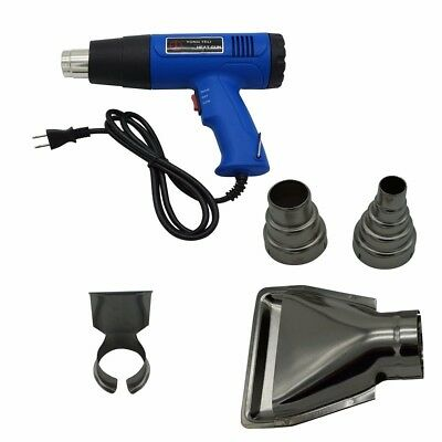 Heat Gun Hot Air Gun Dual Temperature 4 Nozzles Power Tool 1500 W Heater Gun