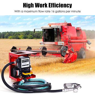 Fuel Transfer Pump Ac Diesel Gas Kerosene Car Tractor Truck Oil Commercial 110v