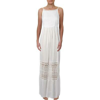Aqua Womens Full-Length Crochet Trim Daytime Maxi Dress BHFO 0000
