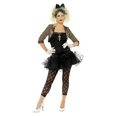 Madonna Costume Adult 80s Pop Star Halloween Fancy Dress