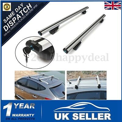 100KG 120cm Aluminum Alloy Anti Theft Car Top Roof Rack Cross Bars Rail Lockable