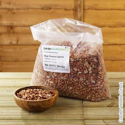 5Kg Bird Peanuts Splits Aflatoxin Tested / Wild Bird Nuts / Garden Birds Food