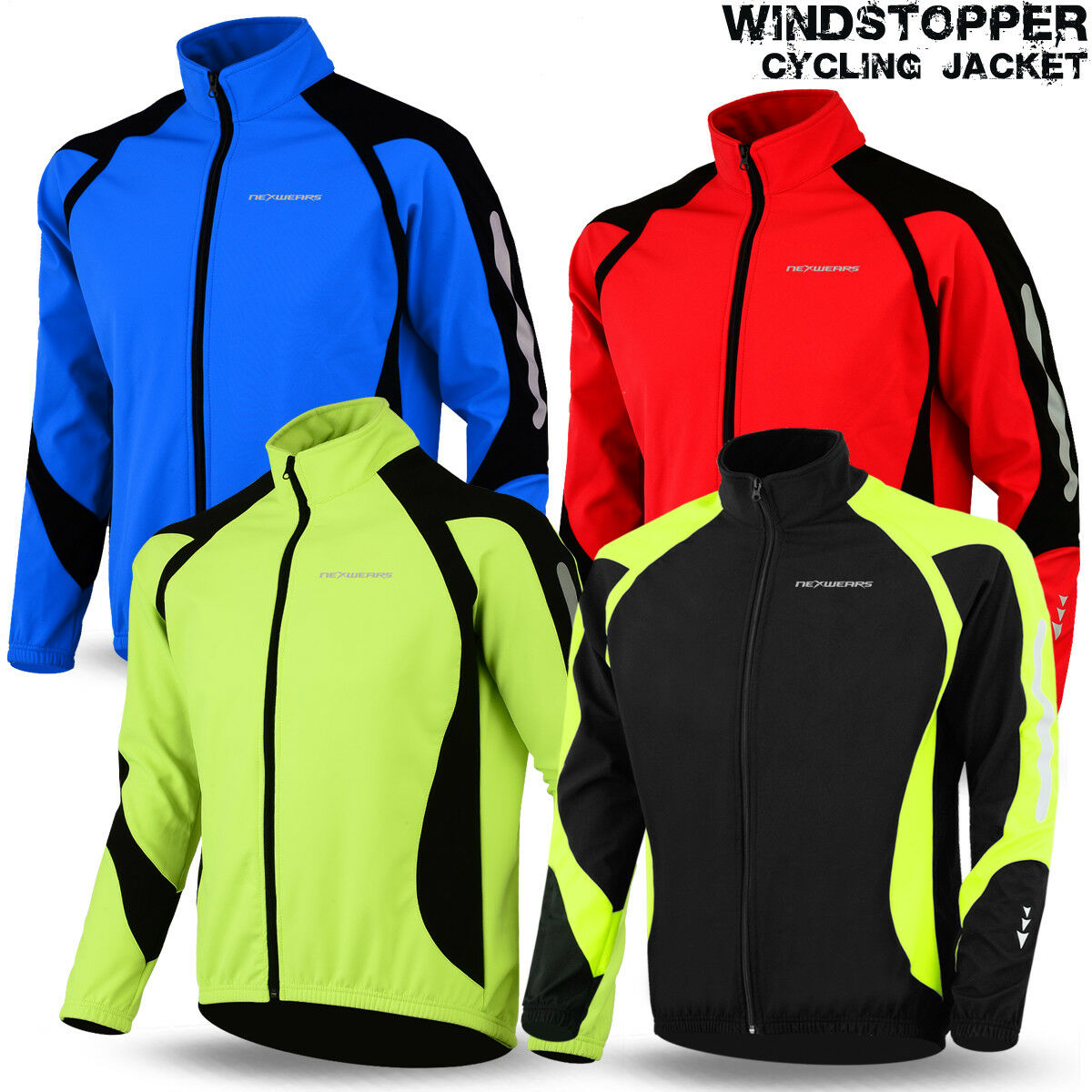как выглядит Велокуртка Cycling Jacket Windstopper Winter Thermal Fleece Windproof Long Sleeve Bike Coat фото
