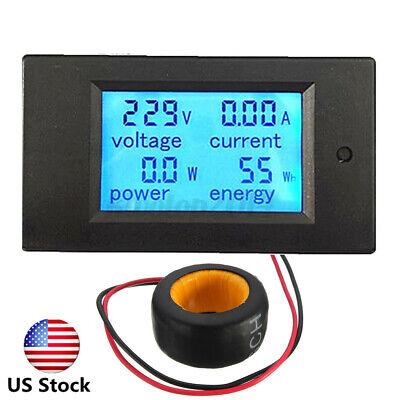 Us 100a Ac Digital Led Power Panel Meter Monitor Power Energy Voltmeter Ammeter