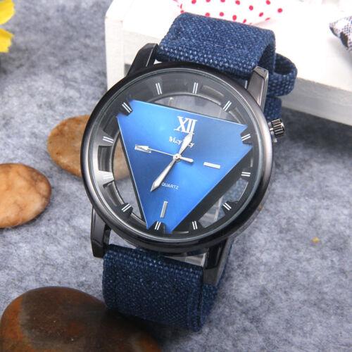 Women 's Fashion Denim Band Analog Quartz Stainless Steel Wrist Watch Watches