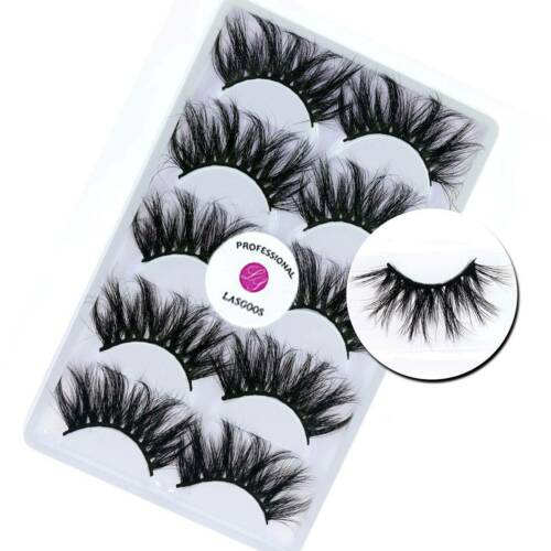 LASGOOS 3D Mink Crisscross 25mm Handmade False Eyelashes Art