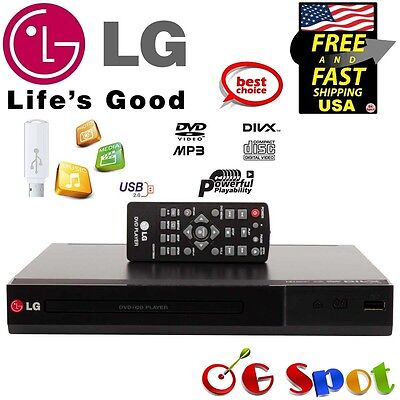 LG DVD DivX HD Player Direct USB Recorder Recording Playback w/ Remote , New