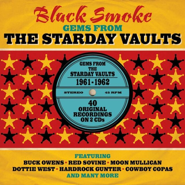 Black Smoke ~ The Starday Vaults NEW SEALED 2CD Vintage Country + Western Hits