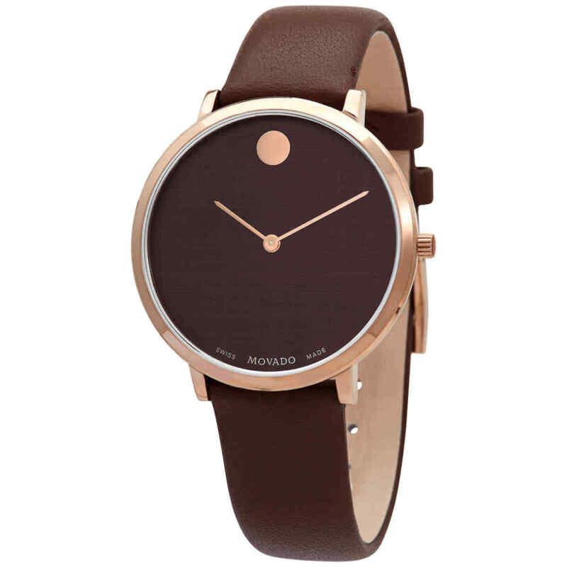 Movado Modern 47 Quartz Brown Dial Ladies Watch 0607405
