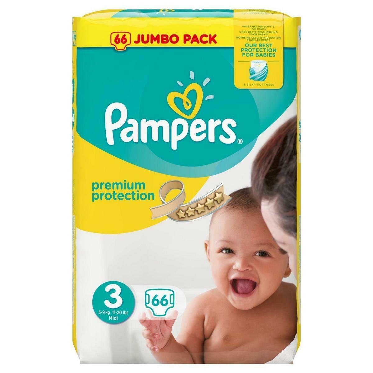 PAMPERS | PREMIUM PROTECTION | NEU & OVP | 66 WINDELN IN GR.3 | 6 BIS 10KG BABY