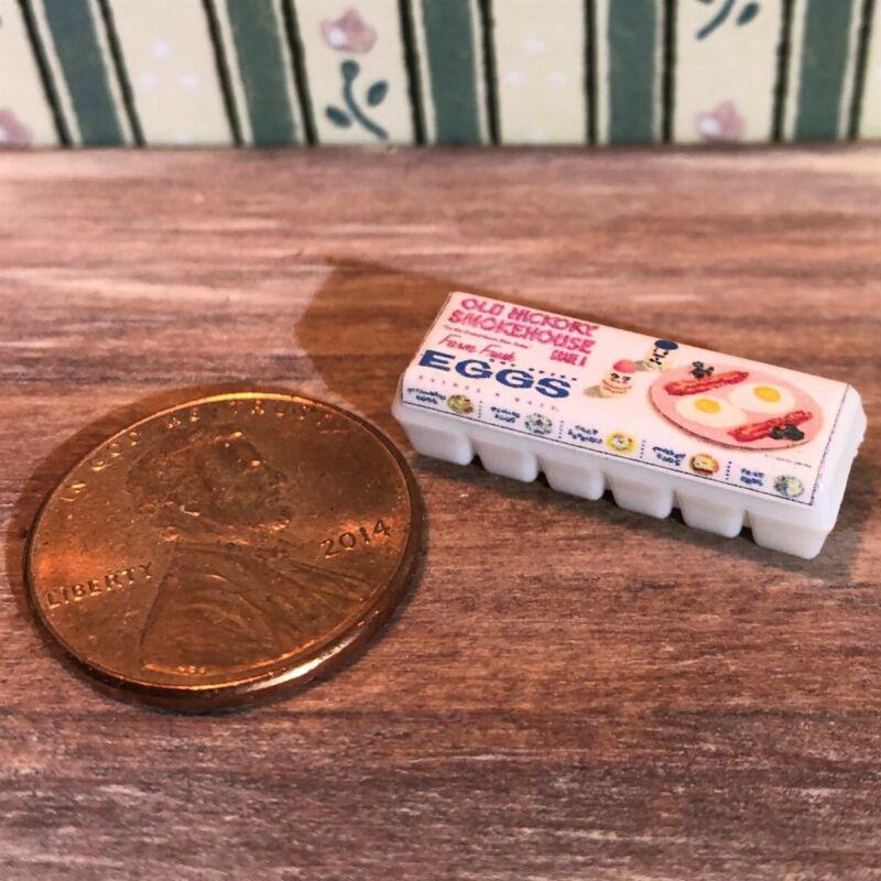 Dollhouse miniature food 1:12 Vintage Label Egg Carton NEW