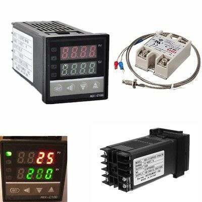 Digital 220v Pid Rex-c100 Temperature Controller Max.40a Ssr W1l3 Thermocouple