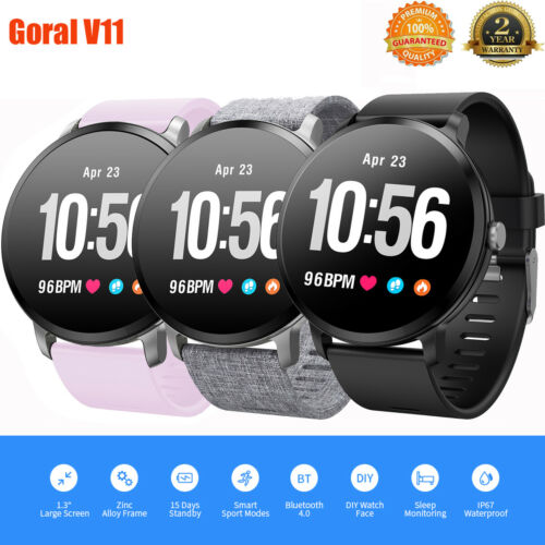 "Goral V11 1.3"" Smart Watch Bluetooth Waterproof Phone Mate H"