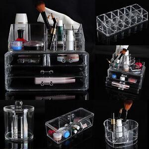 Pr sentoir organisateur rangement bo te bijoux brosse - Boite de rangement maquillage acrylique ...