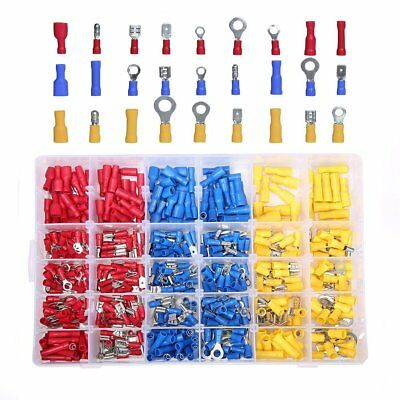 480 Piece Electrical Wire Terminal Kit With Storage Box - Ring Butt Spade Set