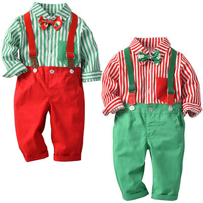 Baby Toddler Boy Christmas Holiday Party Suit Fancy Dress Up Xmas Costume Outfit - Baby Suit Costume