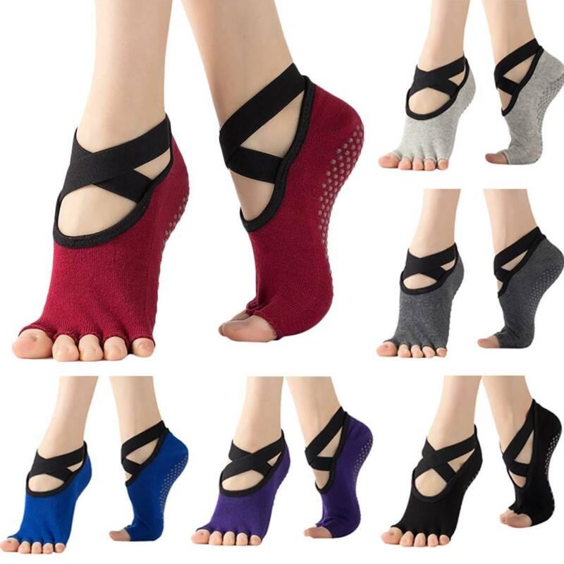 Women Non-Slip Grip Pilates Barre Ballet Dance Sport Socks Yoga Sock Activewear Clothing, Shoes & Accessories